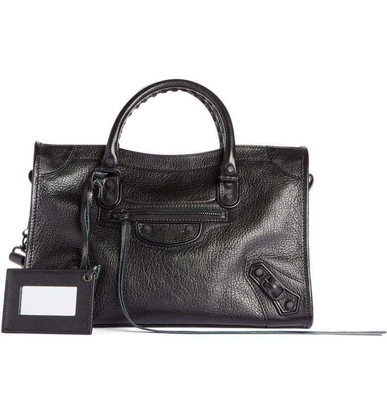 BALENCIAGA Small Classic City Leather Tote, Main, color, 001