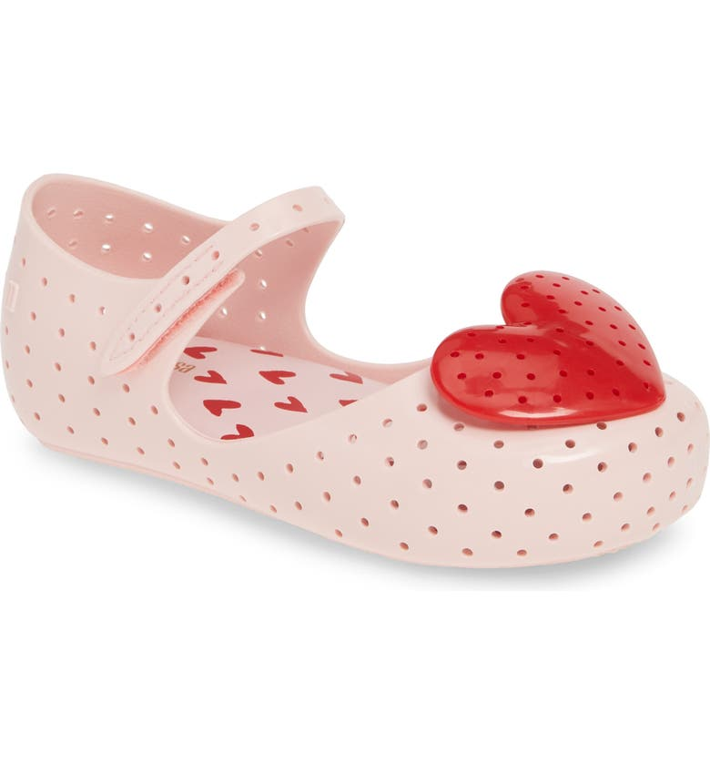 MELISSA Mini Melissa Ultra13 Perforated Mary Jane, Main, color, PINK/ RED