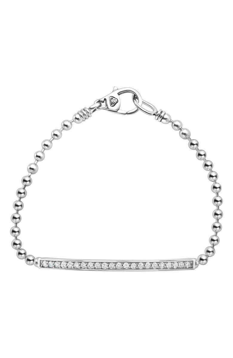 LAGOS Caviar Spark Diamond Bracelet, Main, color, SILVER/ DIAMOND