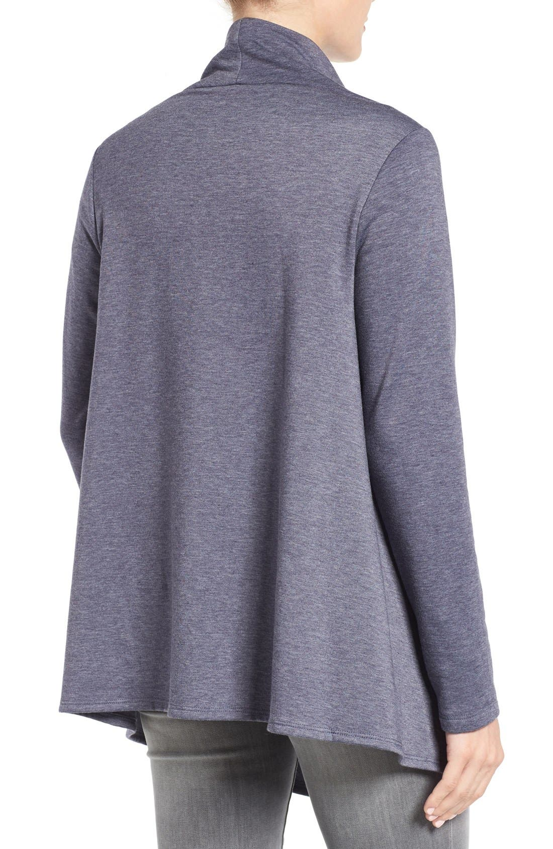 ,                             One-Button Fleece Wrap Cardigan,                             Alternate thumbnail 136, color,                             424