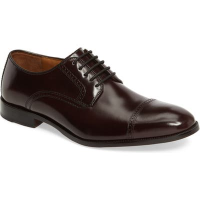 Johnston & Murphy Bradford Cap Toe Derby- Burgundy