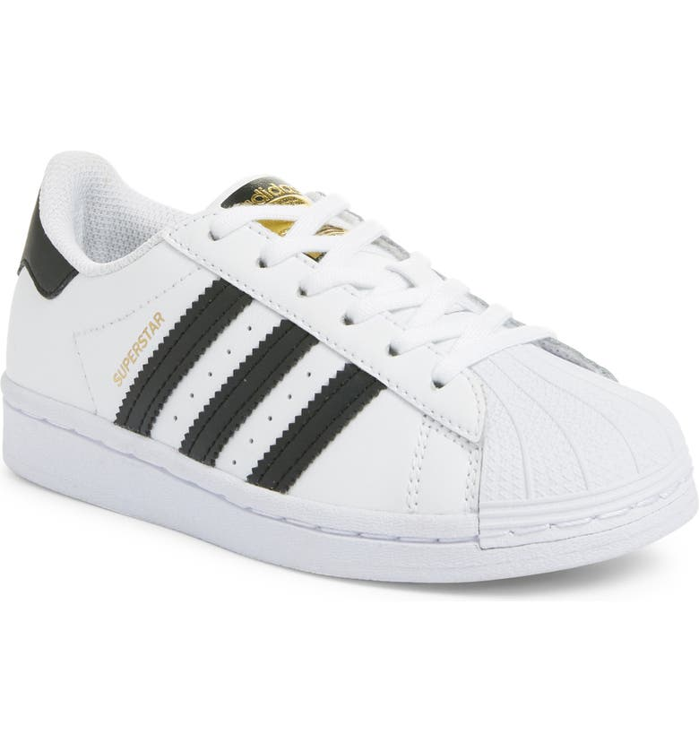 ADIDAS Superstar J Sneaker, Main, color, WHITE/ CORE BLACK