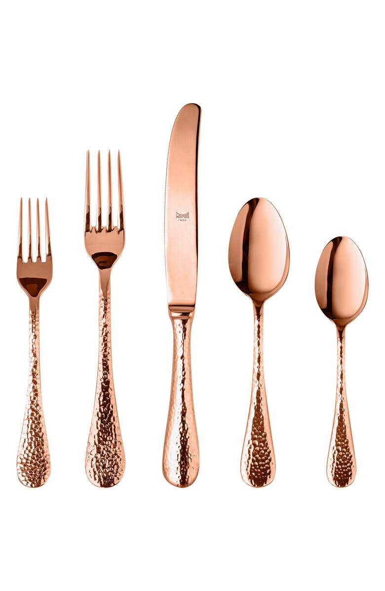 MEPRA Epoque Bronze 5-Piece Place Setting, Main, color, STAINLESS BRONZE