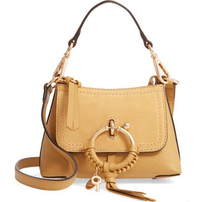 See By Chloe Mini Joan Leather Crossbody Bag - Yellow