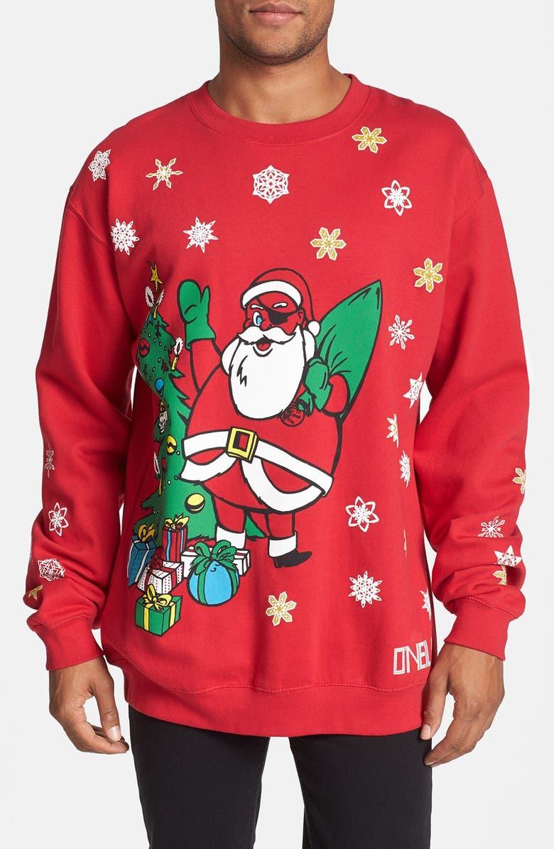 O'NEILL 'Santa Jack' Crewneck Sweatshirt, Main, color, 620