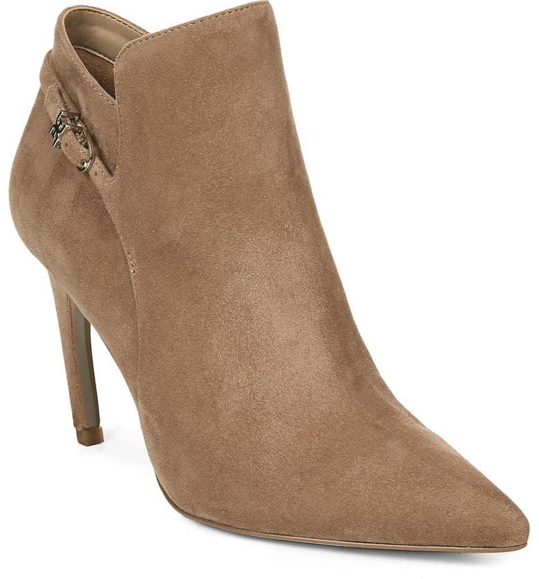 SAM EDELMAN Fiora Pointed Toe Bootie, Main, color, PRALINE