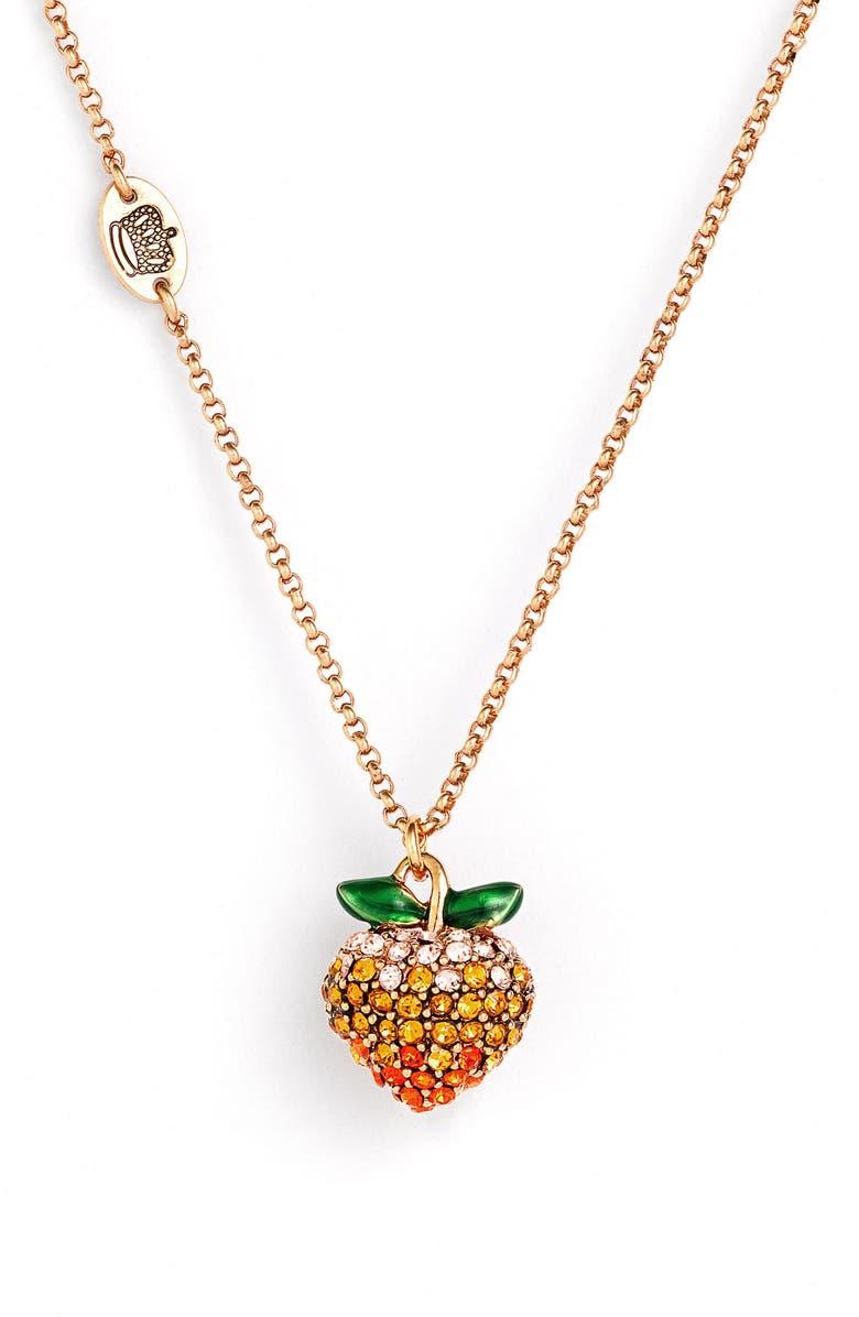 JUICY COUTURE 'Wish - Juicy Fruits' Pendant Necklace, Main, color, 710