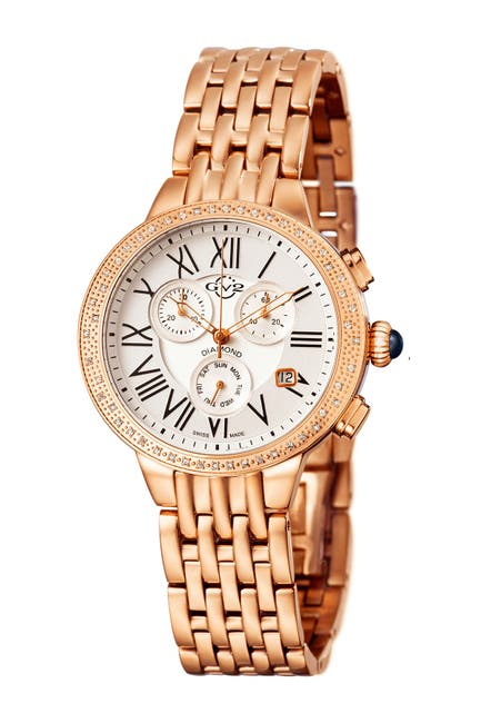 Image of Gevril Women's Astor Chronograph Diamond Bracelet Watch, 40mm - 0.227 ctw