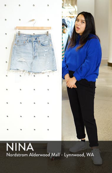 Deconstructed Denim Skirt, sales video thumbnail
