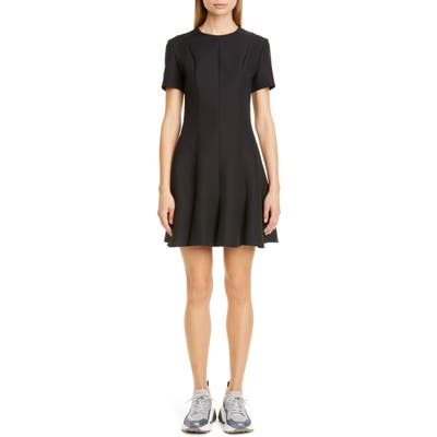 Stella Mccartney Seam Detail Fit & Flare Minidress, 8 IT - Black