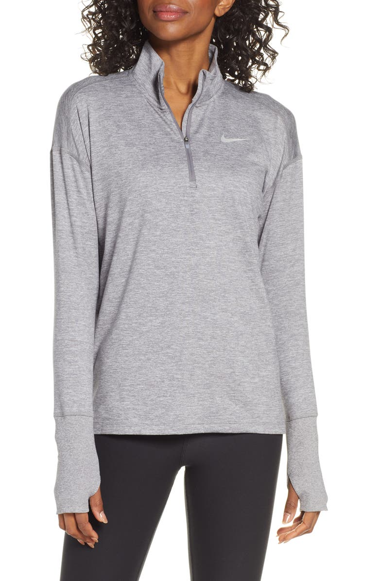NIKE Element Long-Sleeve Running Top, Main, color, GUNSMOKE/ ATMOSPHERE GREY