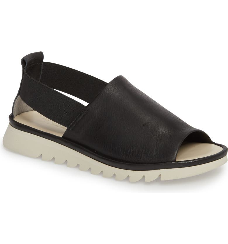 THE FLEXX Shore Line Sandal, Main, color, BLACK LEATHER