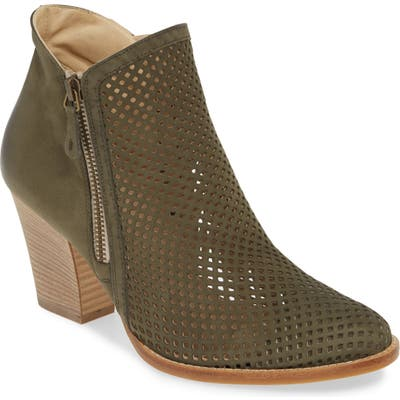 Paul Green Bonzai Perforated Bootie, US/ 5.5UK - Green