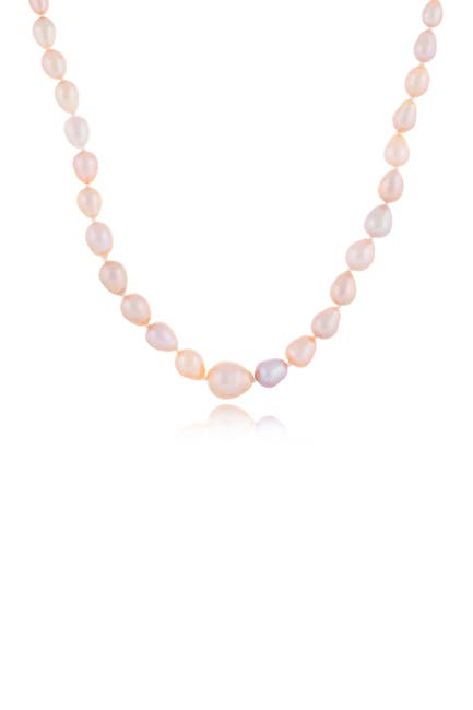 Image of Splendid Pearls 4-8mm Graduated Multicolor Freshwater Pearl Necklace