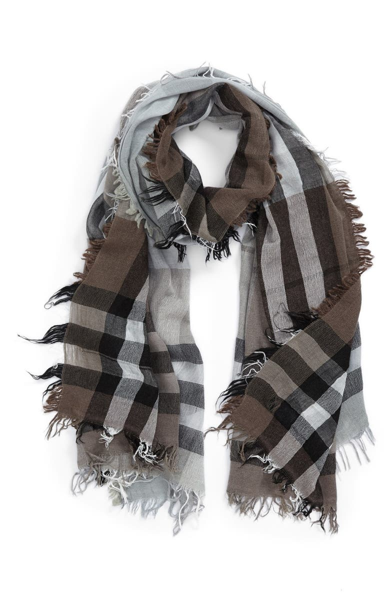 NORDSTROM Plaid Wool Blend Scarf, Main, color, 250