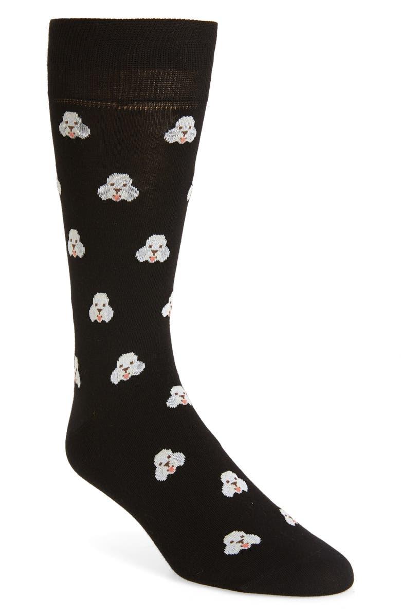 PAUL SMITH Doggo Socks, Main, color, BLACK