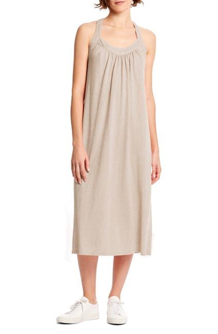 Image of Michael Stars Margo Cross Back Linen Blend Midi Dress