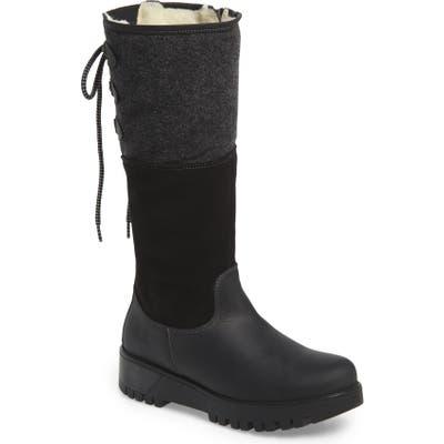 Bos. & Co. Goose Waterproof Boiled Wool Mid Calf Boot, Black