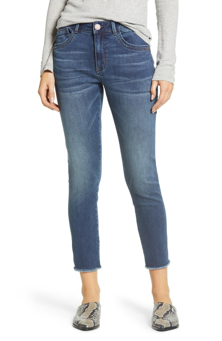 WIT & WISDOM High Waist Seamless Ankle Skimmer Jeans, Main, color, BLUE