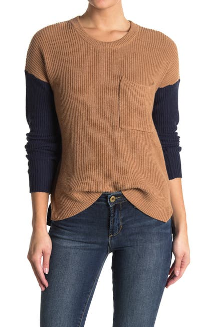 Image of Madewell Thompson Ribbed Colorblock Sweater