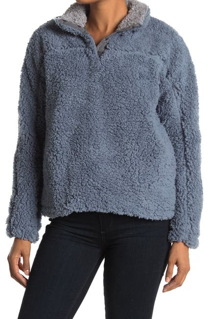 Image of THREAD AND SUPPLY Daydream Faux Shearling Funnel Neck Pullover