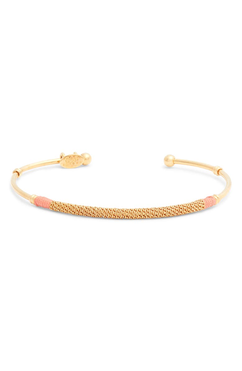 GAS BIJOUX Zanzi Bar Cuff Bracelet, Main, color, GOLD/ PEACH 1