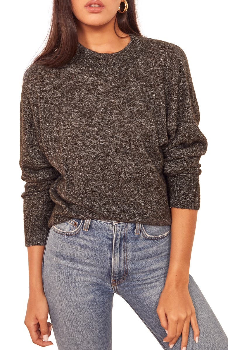 REFORMATION Elle Sweater, Main, color, CHARCOAL
