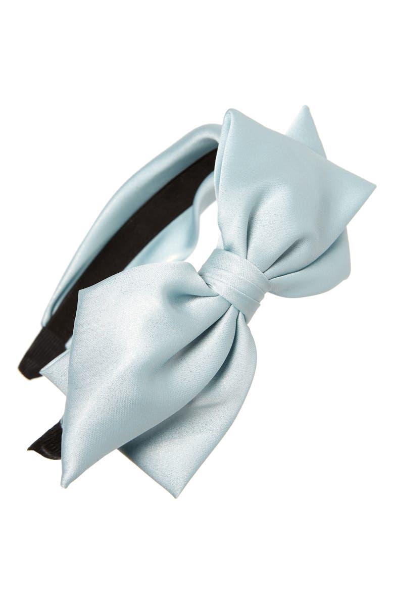 CARA Shiny Sparkle Bow Headband, Main, color, 400