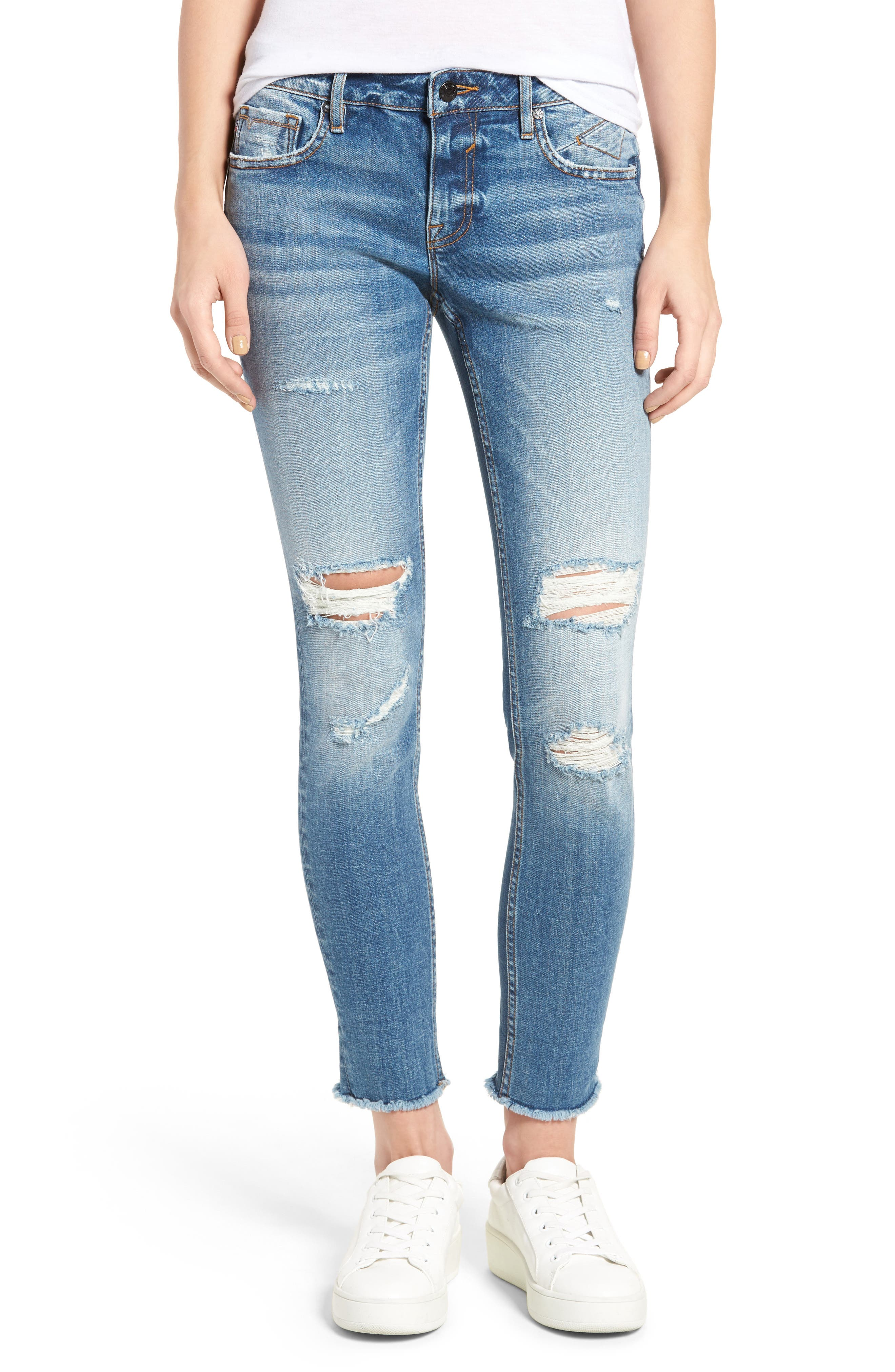 Chelsea Distressed Skinny Jeans, Main, color, 426