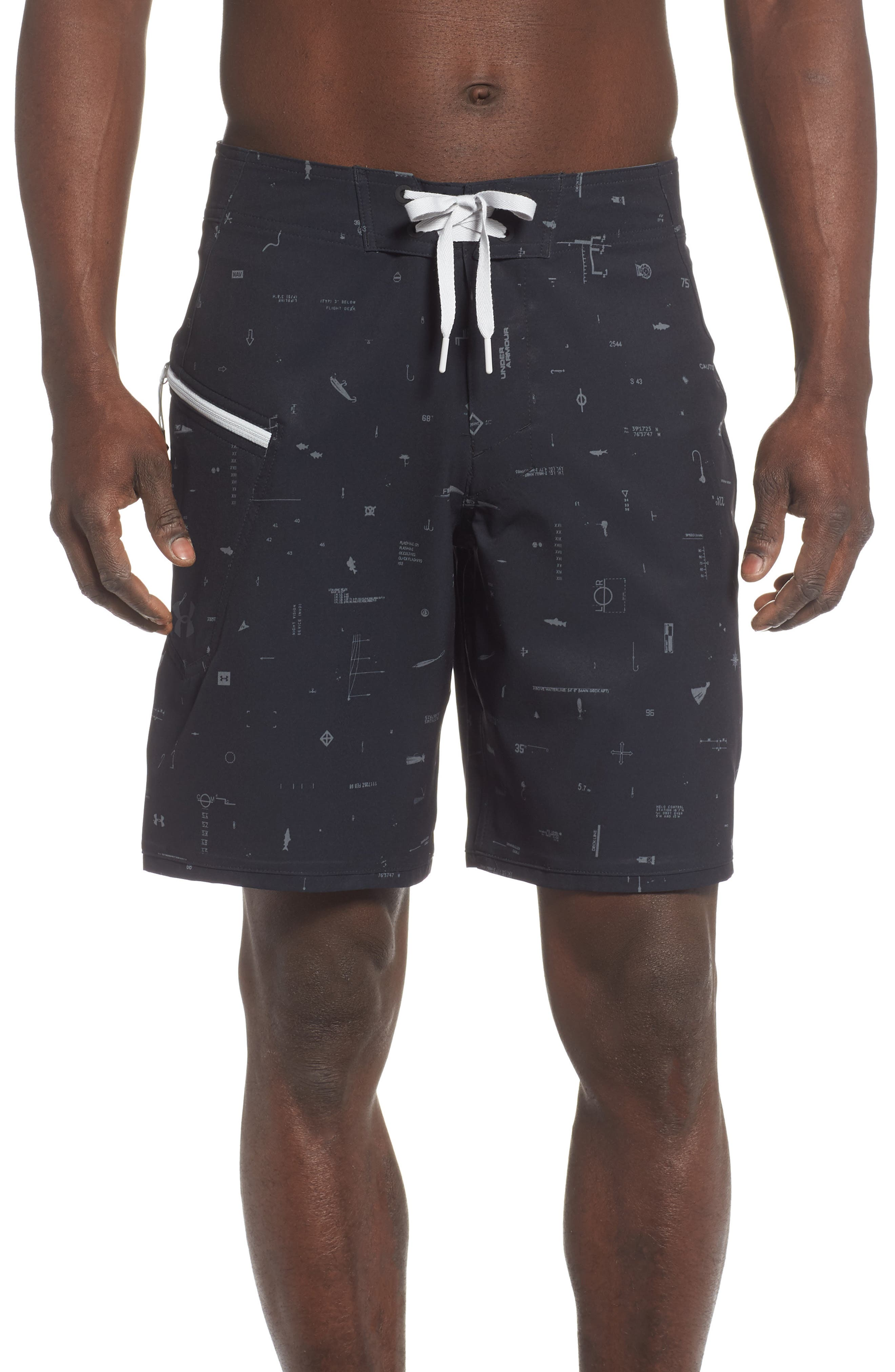 Under Armour Tide Chaser Board Shorts, Black
