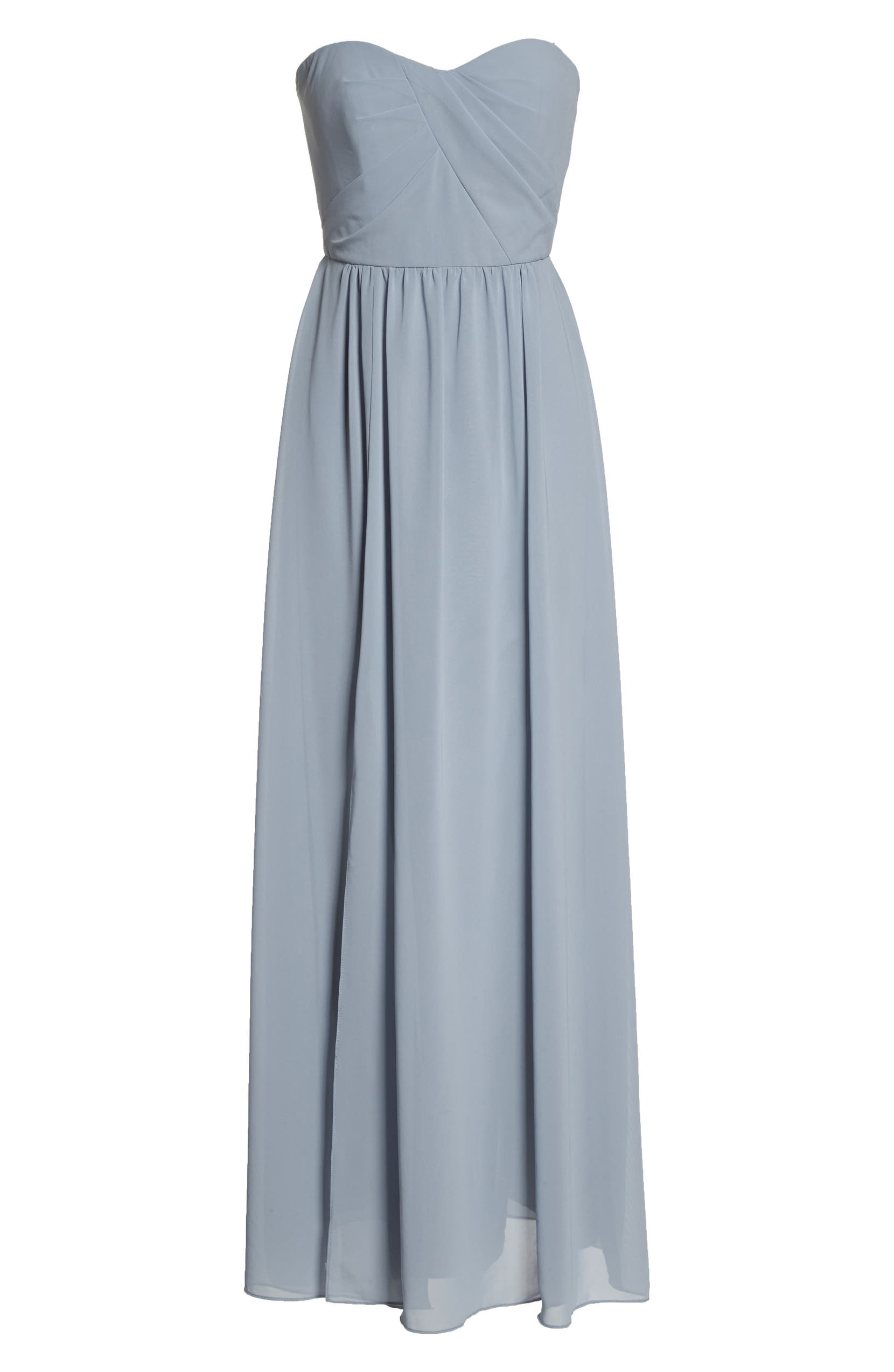 51ed2d256f89 Social Bridesmaids Strapless Georgette Gown | Nordstrom