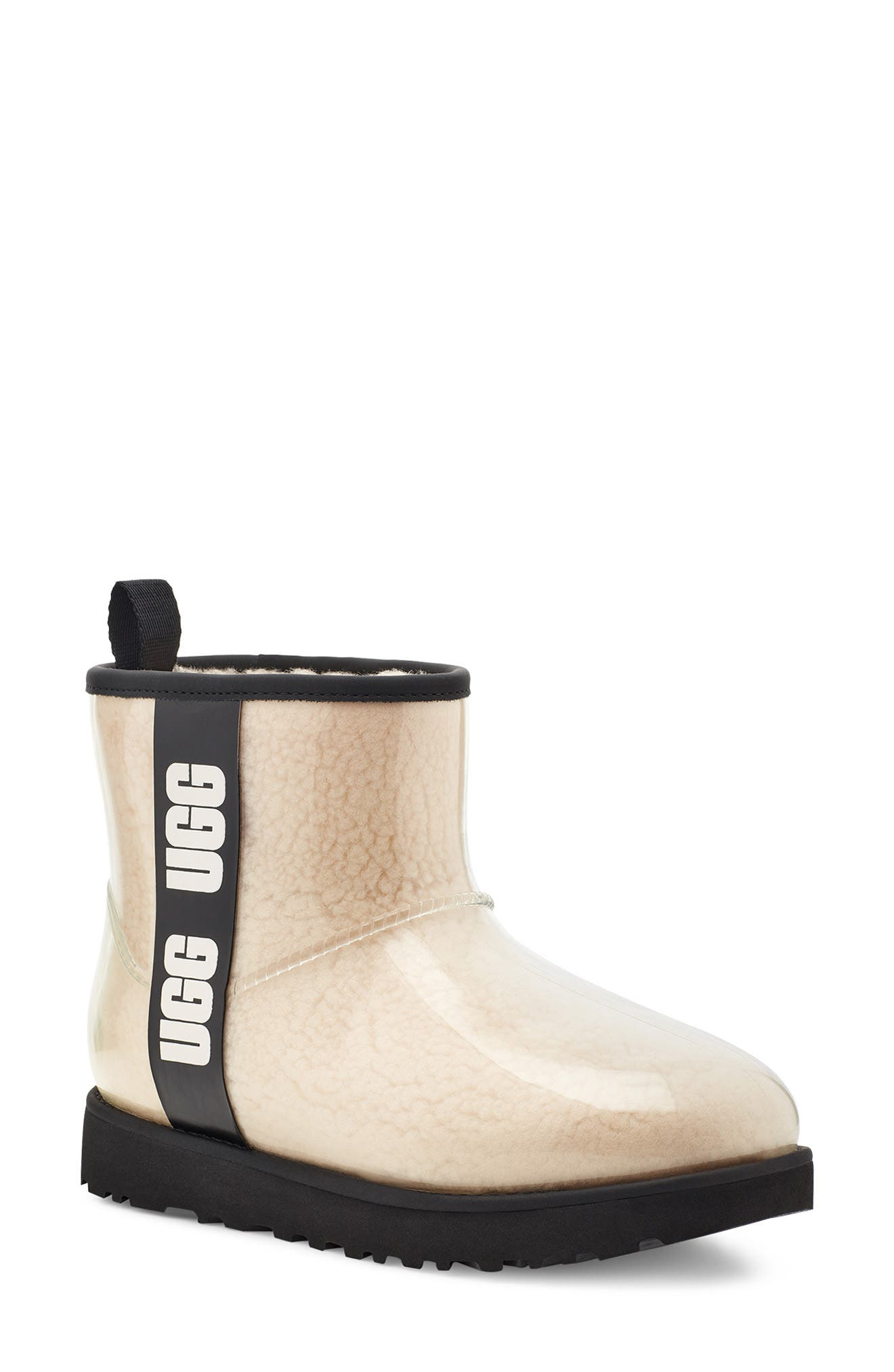 UGG® Classic Mini Waterproof Clear Boot