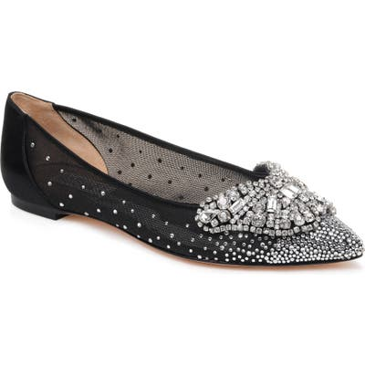 Badgley Mischka Quinn Flat, Black