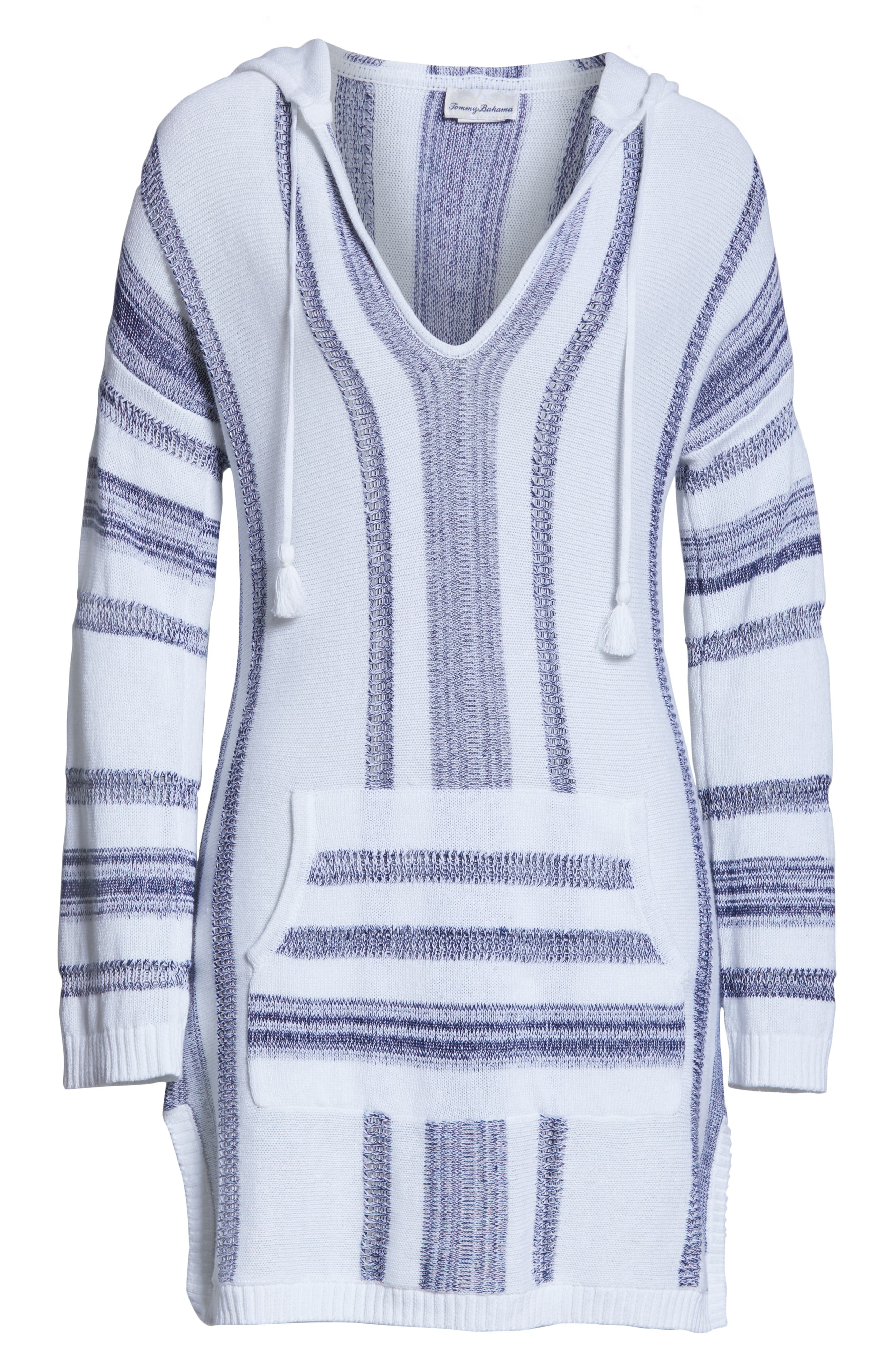,                             Baja Hooded Cover-Up Sweater,                             Alternate thumbnail 7, color,                             WHITE/ MARE