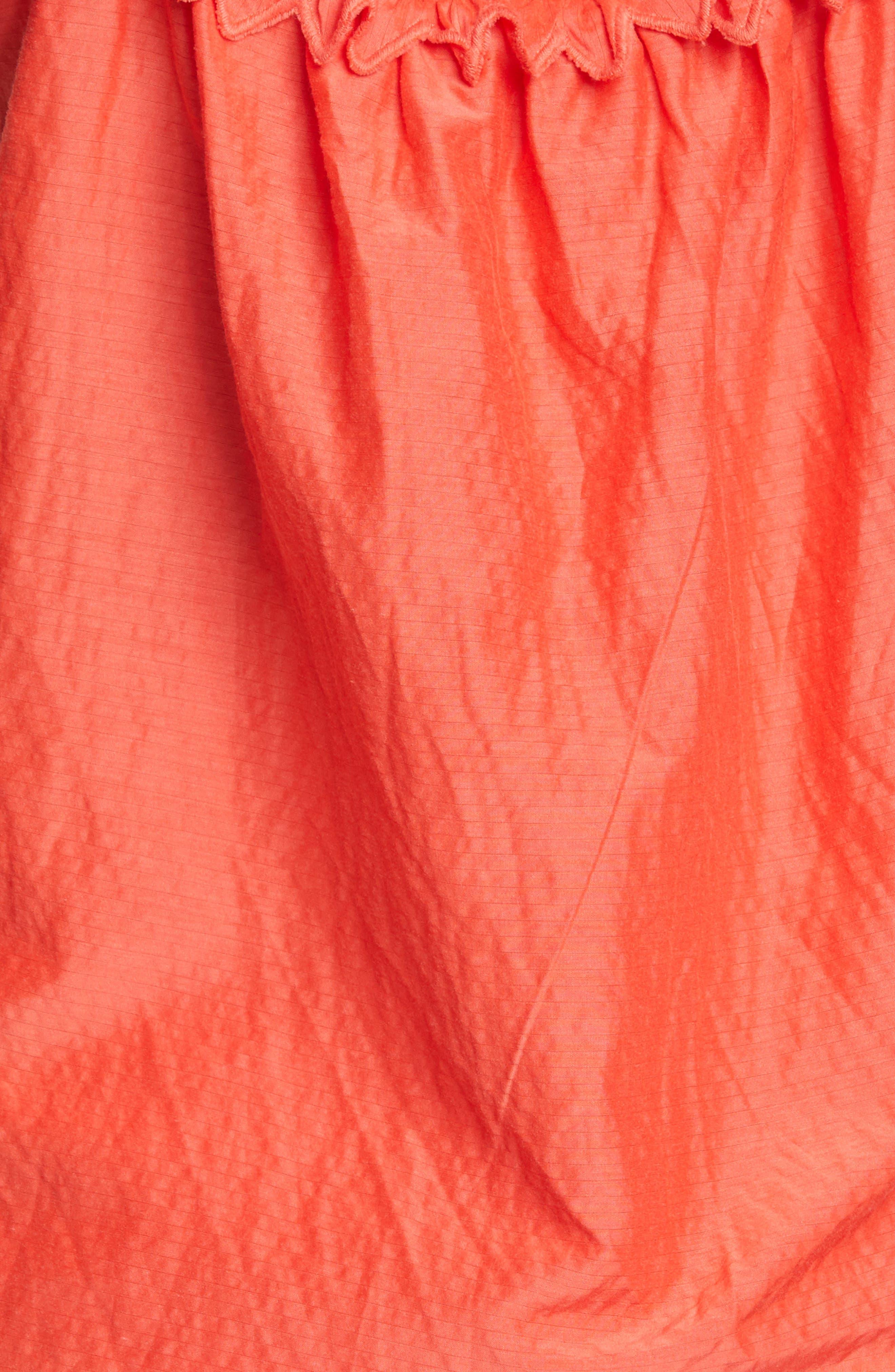 ,                             Petal Detail Cotton Camisole,                             Alternate thumbnail 5, color,                             CHERRY