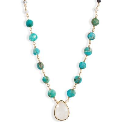 Ela Rae Semiprecious Stone Pendant Necklace