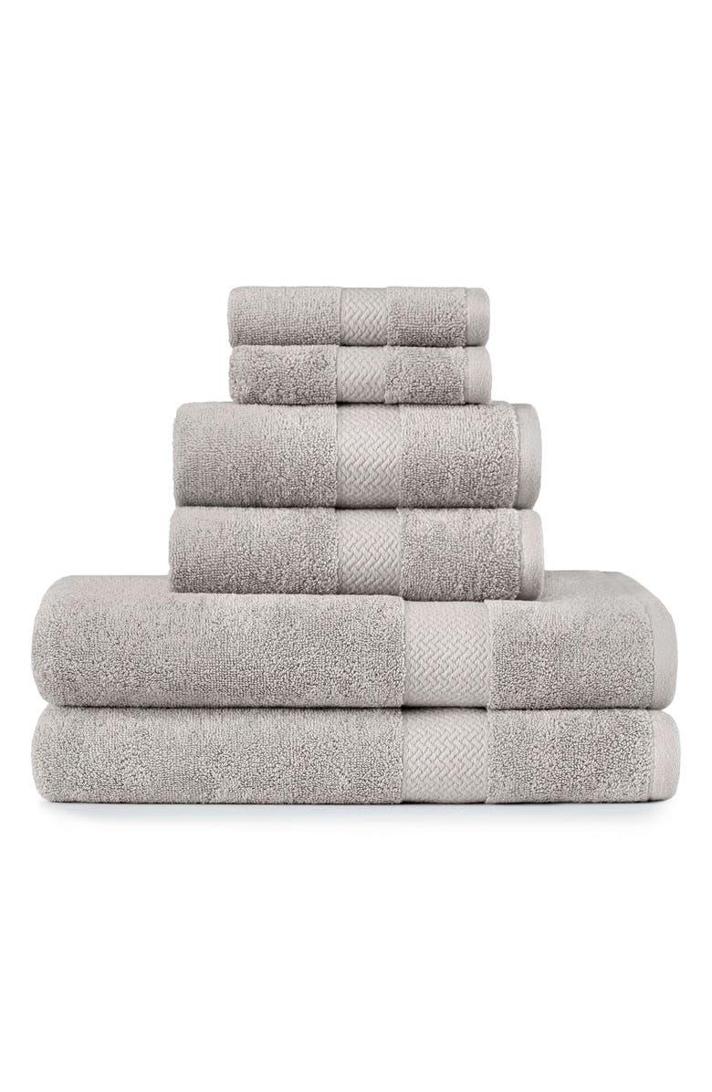 TOMMY BAHAMA Cypress Bay 6-Piece Towel Set, Main, color, PELICAN GREY