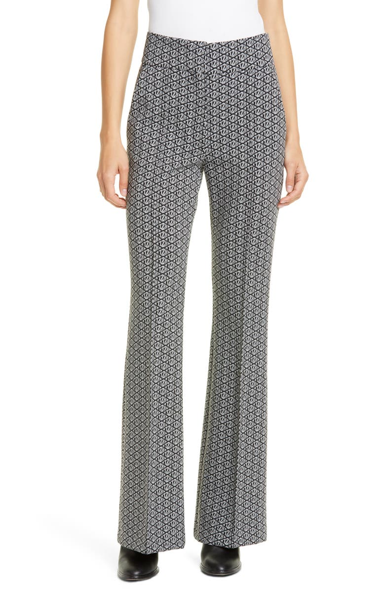 TOMMY HILFIGER Tommy x Zendaya Monogram Flare Trousers, Main, color, 001