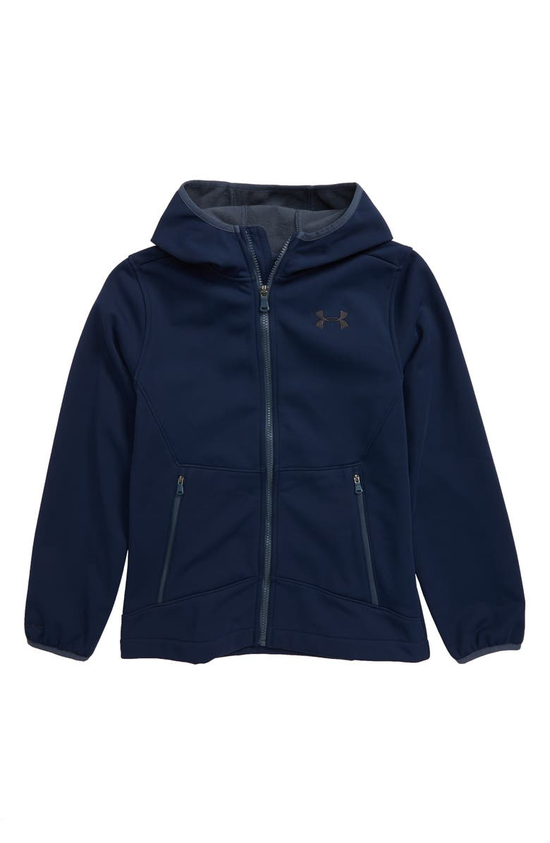 UNDER ARMOUR Sim ColdGear<sup>®</sup> Hooded Soft Shell Jacket, Main, color, ACADEMY BLUE