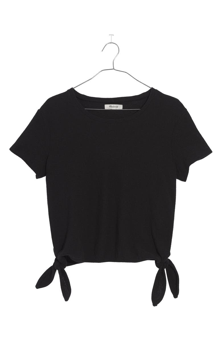 MADEWELL Modern Side Tie Top, Main, color, 001