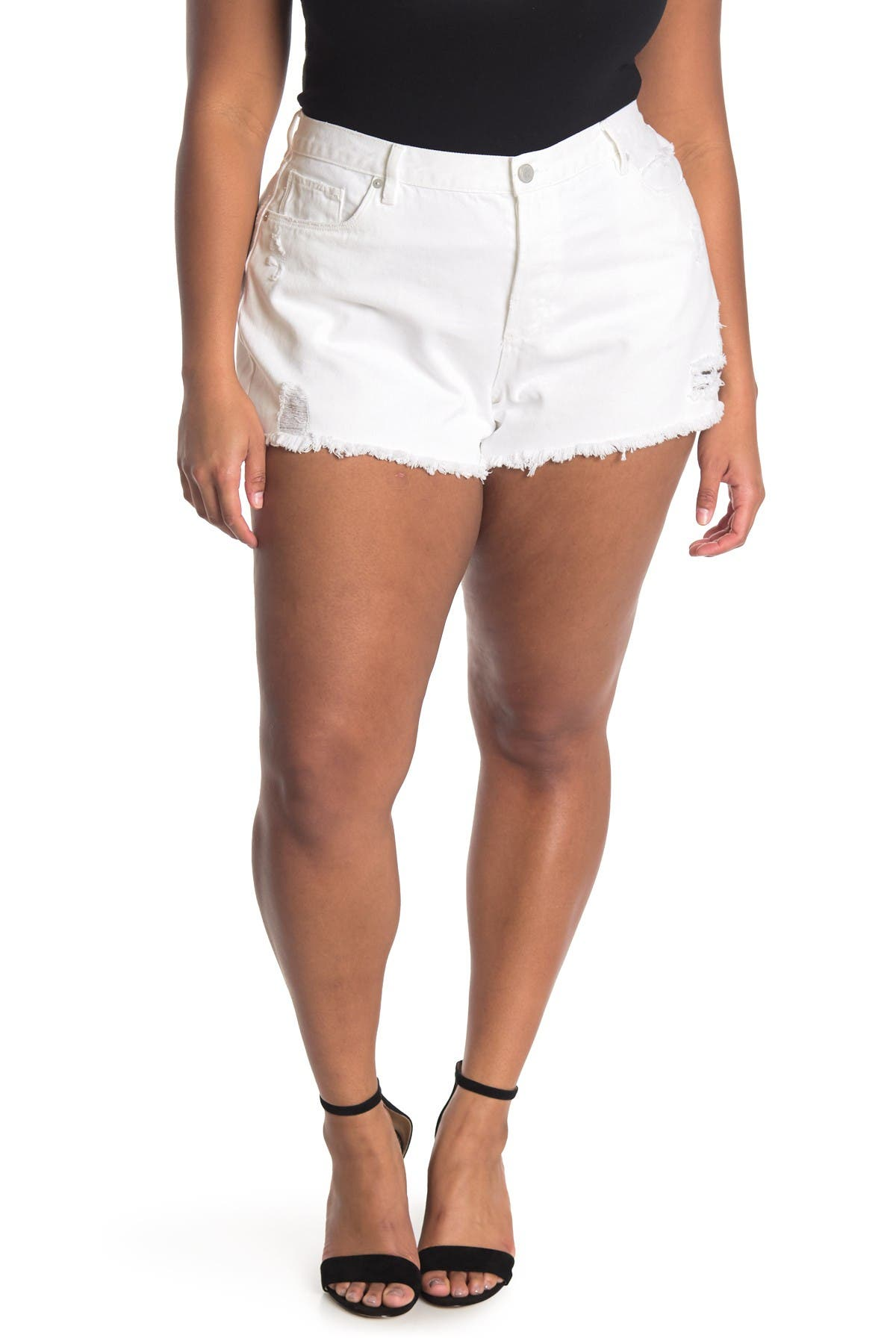 Image of BLANKNYC Denim Hi-Rise Rigid Denim Shorts