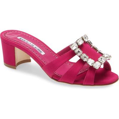 Manolo Blahnik Ilunanew Slide Sandal - Pink