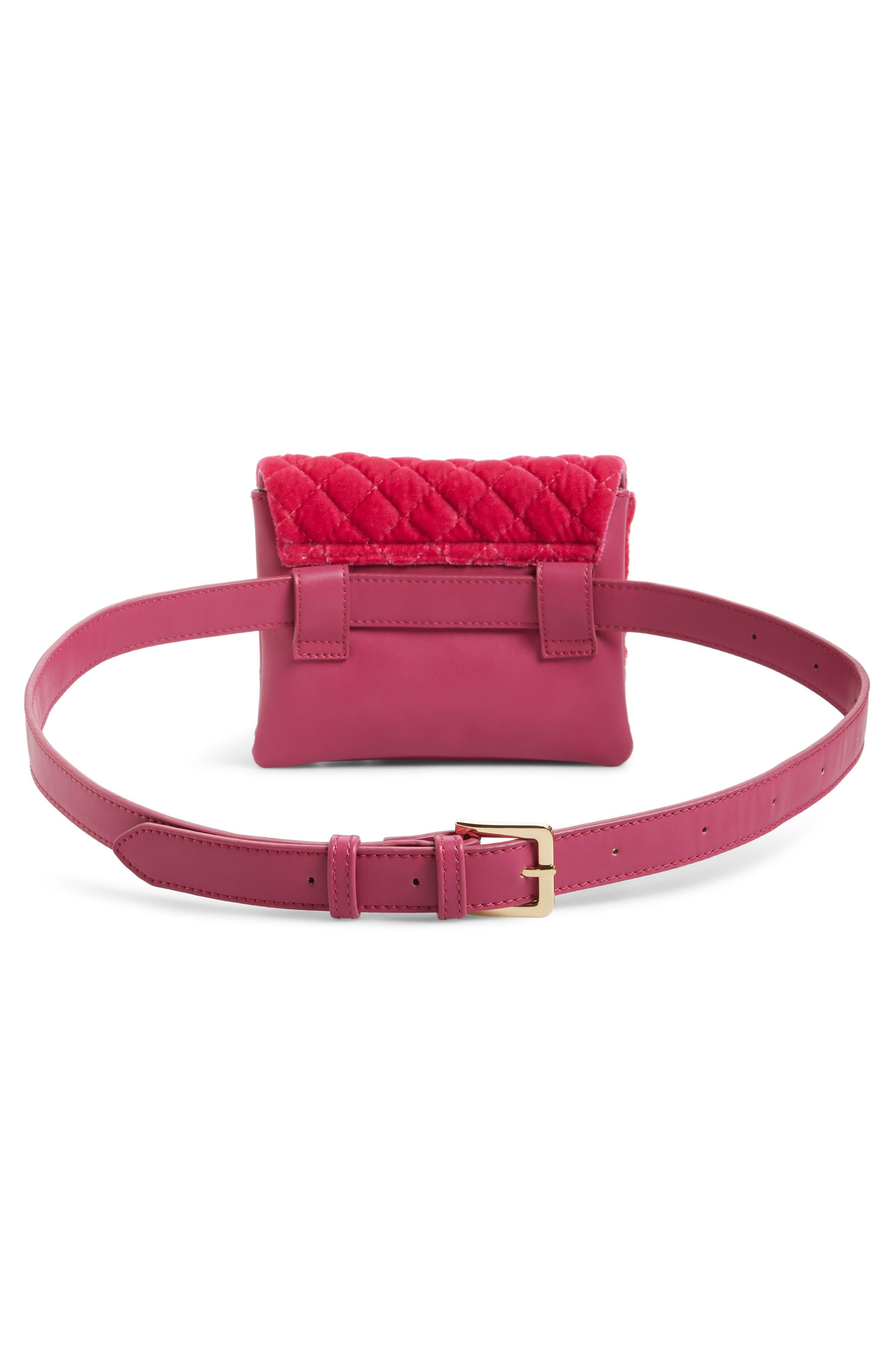 ,                             Nikki Quilted Velvet Belt Bag,                             Alternate thumbnail 14, color,                             650
