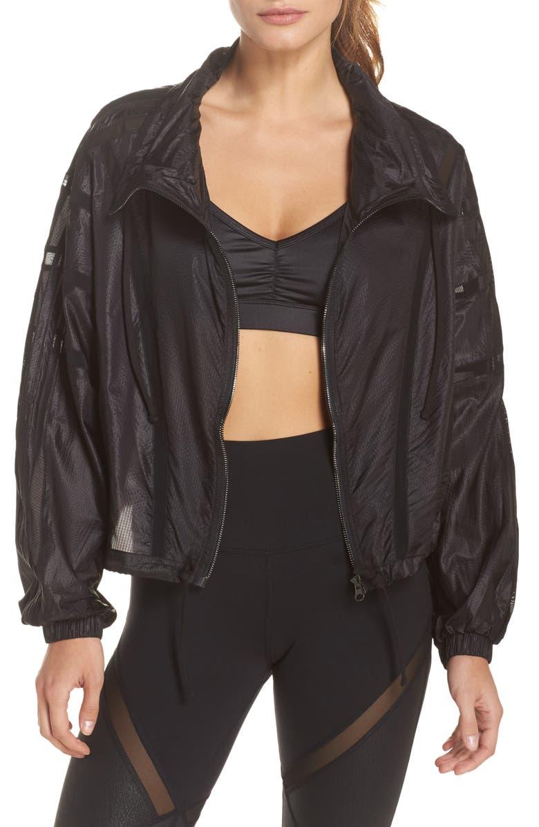 ALO Stitch Jacket, Main, color, BLACK