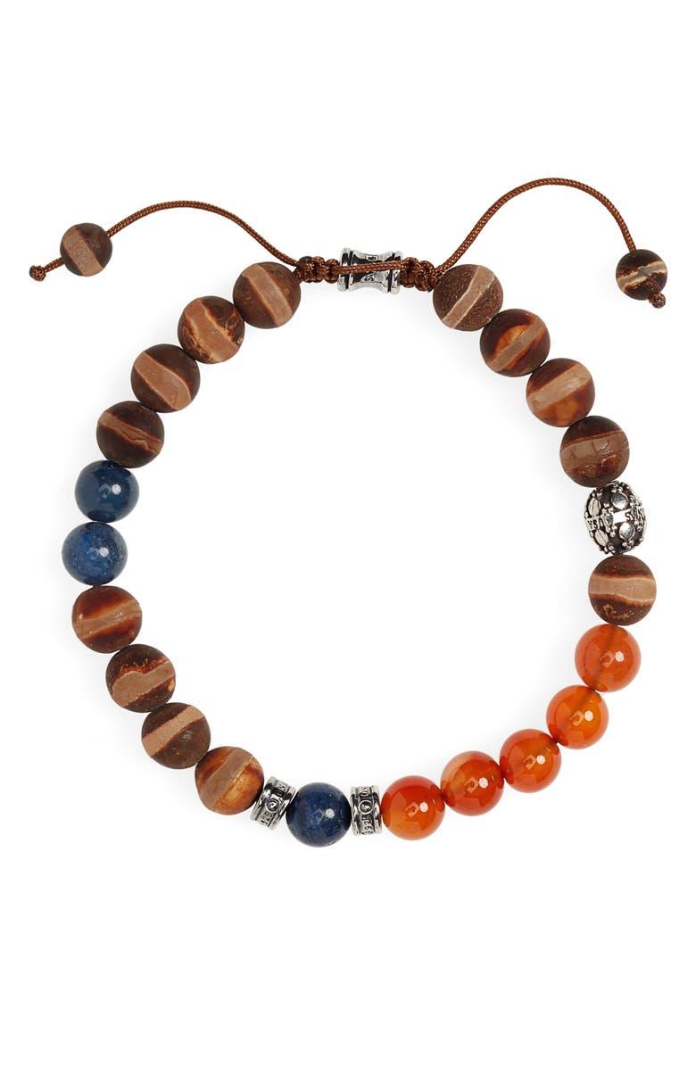 JONAS STUDIO Washington Square Mixed Stone Bracelet, Main, color, BROWN/ ORANGE