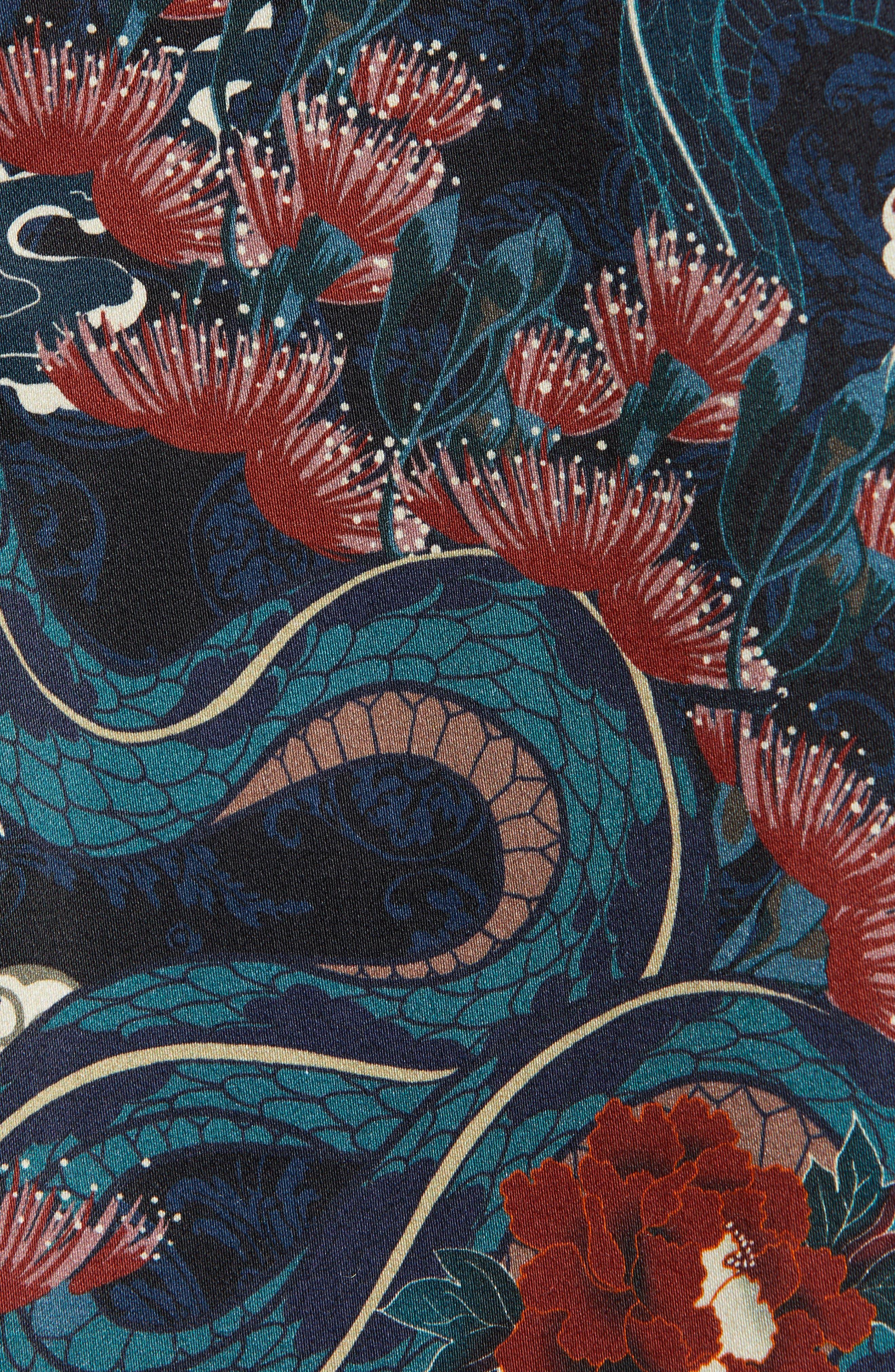 ,                             Skinny Fit Japan Print Suit Jacket,                             Alternate thumbnail 5, color,                             BLACK
