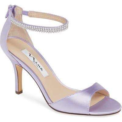 Nina Volanda Ankle Strap Sandal, Purple