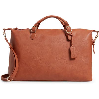Sole Society Grant Faux Leather Weekend Bag - Beige