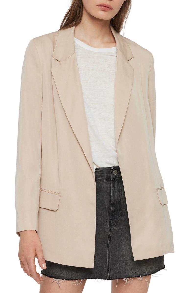 ALLSAINTS Alva Open Front Blazer, Main, color, 250