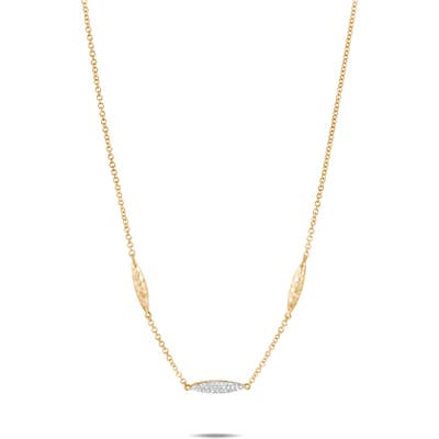 John Hardy Classic Chain Hammered Spear 18K Gold & Diamond Necklace